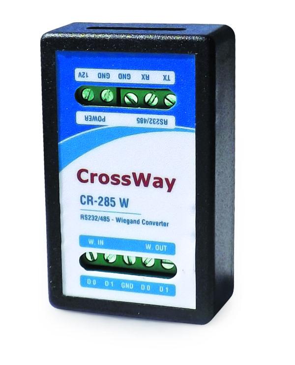 Crossway RS485W Wiegand 26:34 -RS232:485 Çift Yönlü Çevirici